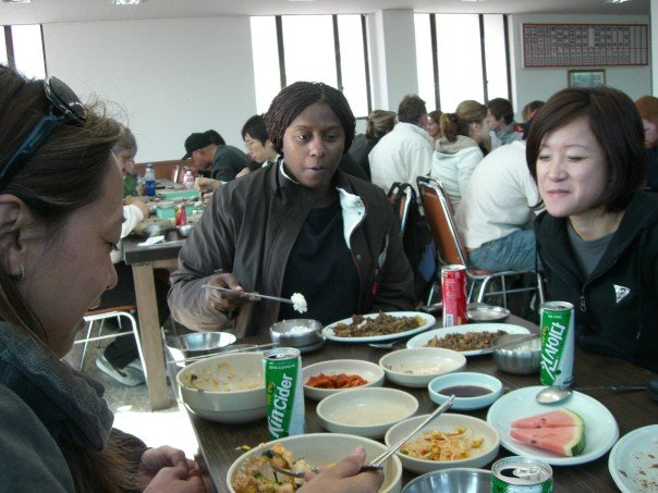 Worse Restaurat in So Korea with Lily and Rosalind