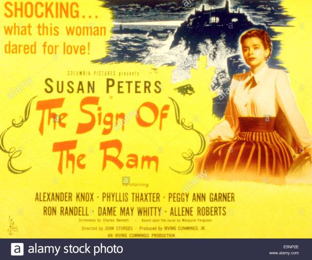 THE SIGN OF THE RAM, Susan Peters, 1948